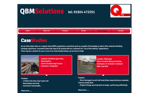 Screenshot of Case Studies Page qbmsolutions.co.uk - QBM Solutions | Case Studies | - captured Oct. 11, 2016
