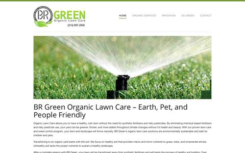 Screenshot of Home Page brgreenlawncare.com - Organic Lawn Care Service | BR Green - captured Feb. 7, 2016
