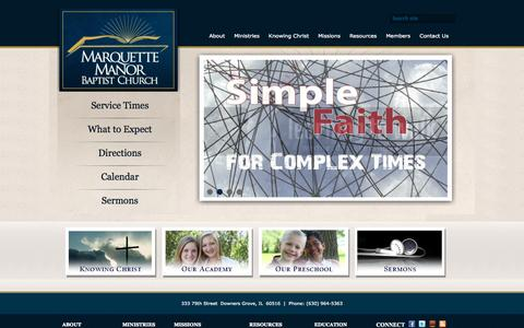 Screenshot of Home Page mmbm.org - Home | MMBC - captured Oct. 6, 2014