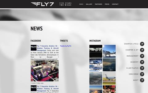 Screenshot of Press Page fly7.ch - News | Fly 7 - captured Feb. 10, 2016