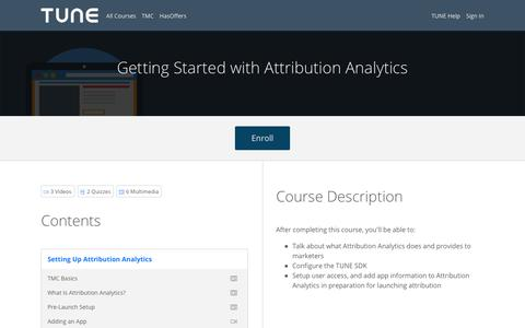 Getting Started with Attribution Analytics