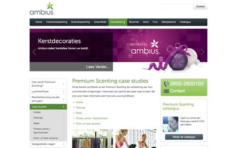 Screenshot of Case Studies Page ambius.nl - Microfresh geuren studies cases- Ambius - captured Nov. 20, 2016
