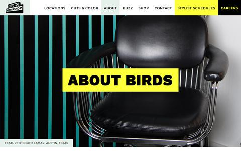 Screenshot of About Page birdsbarbershop.com - About - Birds Barbershop - captured Oct. 31, 2019