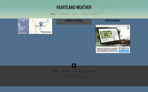 Screenshot of Home Page heartlandweather.com - Heartland Weather - captured Oct. 13, 2015