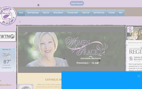 Screenshot of Home Page catholicspiritradio.com - Catholic Spirit Radio FM 89.5 - captured July 5, 2018