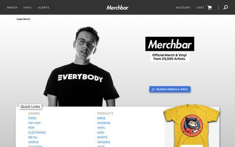 Screenshot of Home Page merchbar.com - Band Merch - T Shirts, Vinyl, Posters & Merchandise | Merchbar - captured Aug. 19, 2018