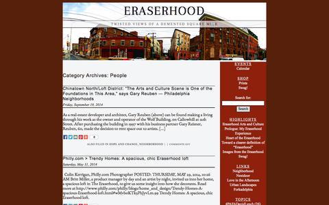 Screenshot of Team Page eraserhood.com - Eraserhood › People - captured Oct. 3, 2014