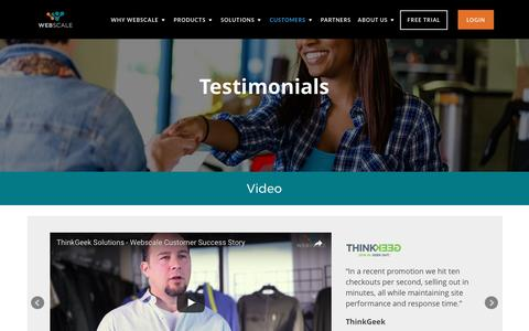 Screenshot of Testimonials Page webscale.com - Testimonials | Webscale - captured May 3, 2017