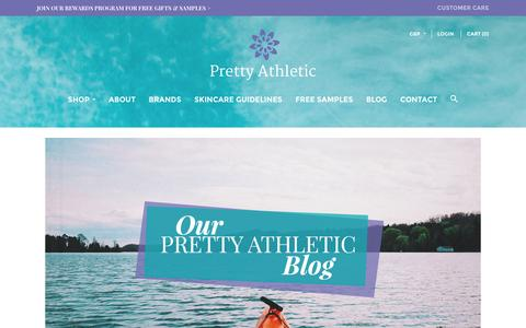 Screenshot of Blog prettyathletic.com - Our Pretty Athletic Blog | Pretty Athletic - captured Dec. 12, 2015