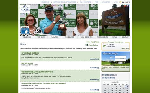 Screenshot of Press Page clubdegolfaloha.com - News. Aloha Golf Club, exclusive club and golf course, Costa del Sol Spain - captured Oct. 4, 2014