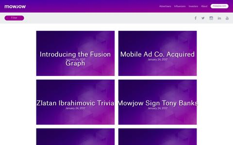Screenshot of Blog mowjow.com - Blog Categories - MOWJOWMOWJOW - captured Oct. 3, 2017