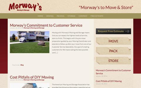 Screenshot of Press Page morwaysmoving.com - Blog - Morway's Moving and Storage - captured Nov. 6, 2017