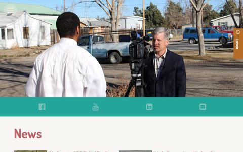 Screenshot of Press Page cwrm.org - News & Events - Wyoming Rescue Mission - captured July 21, 2017