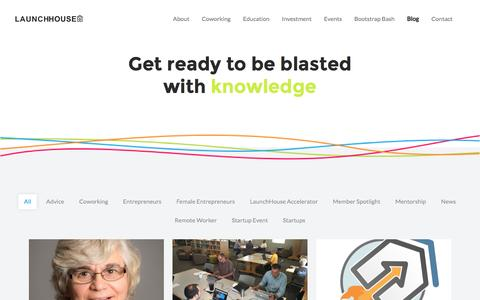 Screenshot of Blog launchhouse.com - Blog : Launch House - captured Oct. 29, 2016