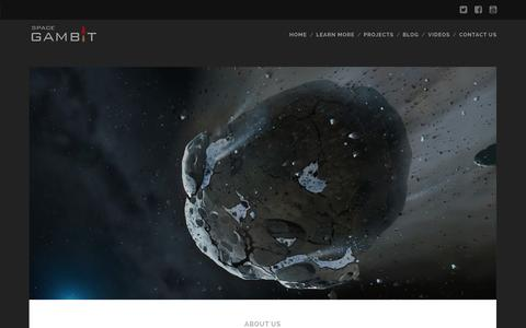 Screenshot of About Page spacegambit.org - What is SpaceGAMBIT? - SpaceGAMBIT - captured Nov. 5, 2014
