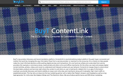 Screenshot of About Page buyt.in - buyt.in : Online price comparison Mobile, Cameras, Lifestyle & more Online India - captured Jan. 14, 2016