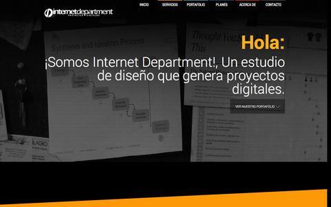 Screenshot of Home Page internet-department.net - Internet Department - Proyectos Digitales - captured Sept. 30, 2014