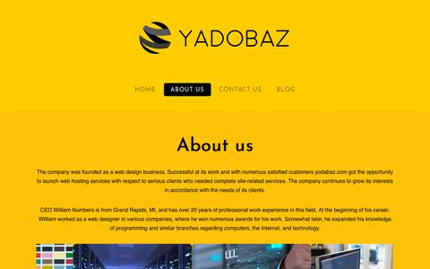 Screenshot of About Page yodabaz.com - About us - YodaBaz - captured Oct. 21, 2018