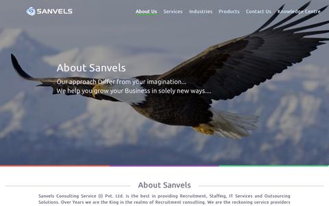 Screenshot of About Page sanvelsinfo.com - About Sanvels Consulting Services India Pvt Ltd. - captured Oct. 4, 2014
