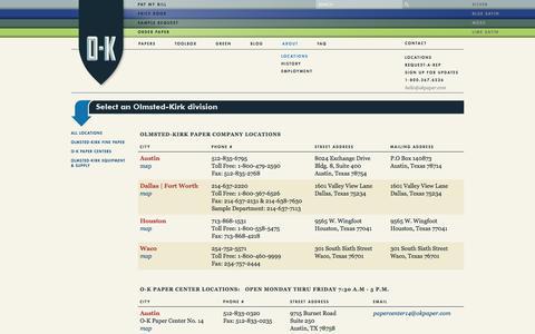Screenshot of Locations Page okpaper.com - Locations - captured Oct. 26, 2014