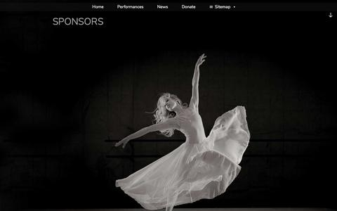 Screenshot of Support Page amballet.org - Sponsors – - captured Aug. 1, 2018