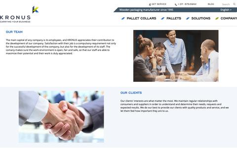 Screenshot of Team Page kronus.eu - Our Team, Values, Development and Innovations   Kronus - captured Nov. 15, 2018