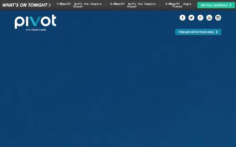 Screenshot of Home Page pivot.tv - Pivot.tv | - captured Sept. 23, 2014