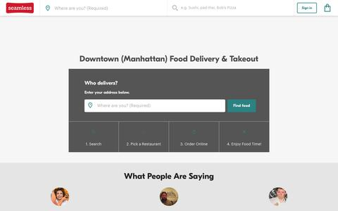 Downtown Delivery - 1,750 NYC Restaurant Menus | Seamless