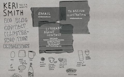Screenshot of Contact Page kerismith.com - Contact «  Keri Smith - captured Oct. 30, 2014