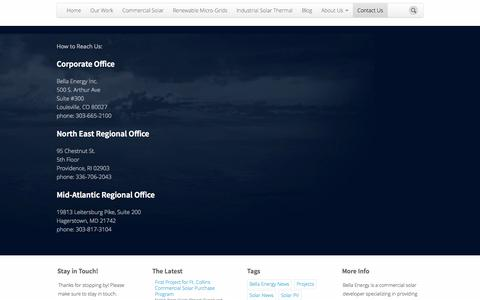 Screenshot of Contact Page bellaenergy.com - Bella Energy | Industrial Micro-Grid Solar | Contact Us - captured Oct. 27, 2014