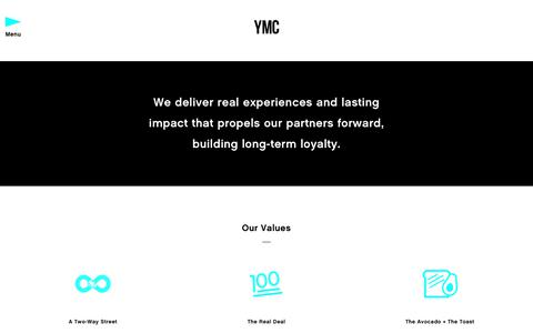 Screenshot of Team Page youthmarketing.com - Meet the Marketing Specialists at YMC - captured Oct. 18, 2018
