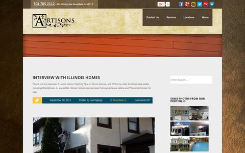 Screenshot of Locations Page artisonspainting.com - Brookfield, IL Archives ‹ Interior Exterior Painting RemodelingInterior Exterior Painting Remodeling - captured Oct. 4, 2014