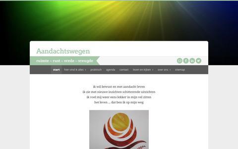 Screenshot of Home Page aandachtswegen.nl - start   Aandachtswegen - captured July 21, 2017