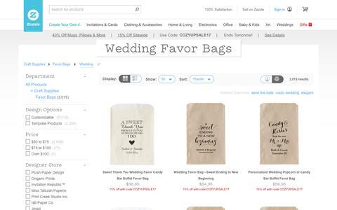 Wedding Favor Bags | Zazzle