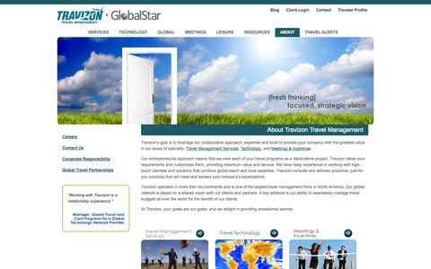 Screenshot of About Page travizon.com - Corporate Travel Management Company |Travizon Corporate Travel - captured Sept. 18, 2014