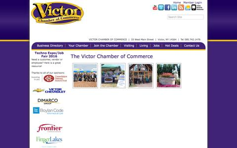 Screenshot of About Page victorchamber.com - About Us - Victor Chamber of Commerce,NY - captured Dec. 21, 2016