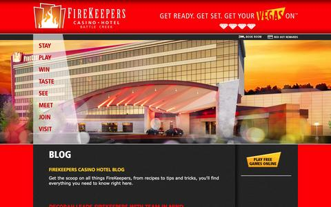 Screenshot of Blog firekeeperscasino.com - Blog  | FireKeepers Casino Hotel - captured Feb. 10, 2016