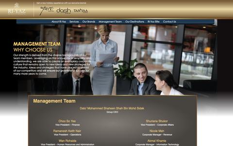 Screenshot of Team Page ri-yaz.com - Ri-Yaz Hotel and Resort | Management Team - captured Feb. 15, 2016