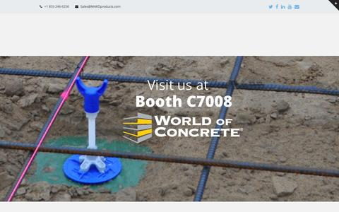 Screenshot of Home Page makoproducts.com - MAKO products | Screed Supports - captured Feb. 3, 2016