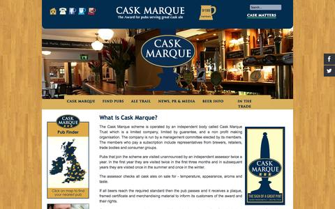 Screenshot of About Page cask-marque.co.uk - What is Cask Marque? - captured Oct. 28, 2014
