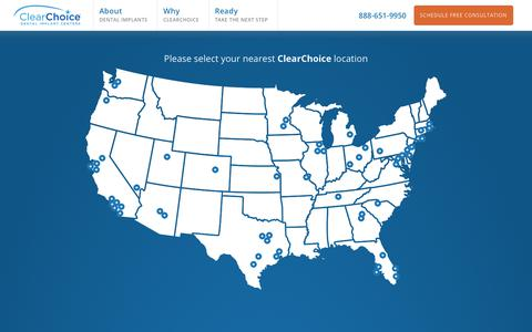 Screenshot of Locations Page clearchoice.com - Dental Implant Center Locations | ClearChoice | ClearChoice Dental Implants - captured Oct. 2, 2019