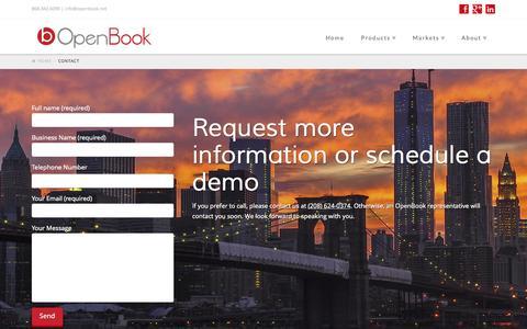 Screenshot of Contact Page openbook.net - Contact | OpenBook - captured Oct. 7, 2014
