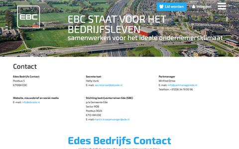 Screenshot of Contact Page ebcede.nl - Contact - captured July 7, 2017
