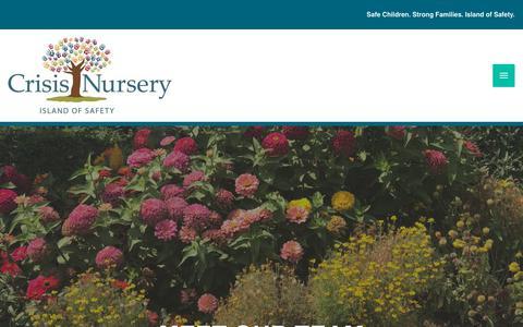 Screenshot of Team Page crisisnursery.net - Our Team - Crisis Nursery - captured Nov. 5, 2018