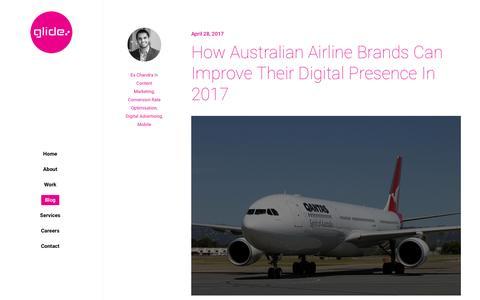 Screenshot of Blog glideagency.com - Blog | Glide Agency - captured May 18, 2017