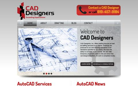 Screenshot of Home Page cad-designers.com - CAD Designers | Drafting Services | CAD Staffing Services| Autocad Drafting | CAD Drafting - captured Nov. 9, 2018