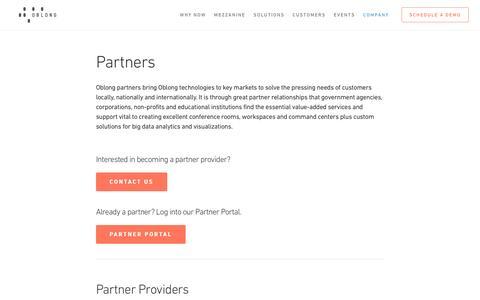 Partners - oblong industries, inc.