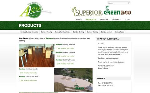 Screenshot of Products Page bamboofloorsa.co.za - Bamboo Floors   Bamboo Counter tops   Bamboo Decking   Bamboo Flooring South Africa - captured April 15, 2016