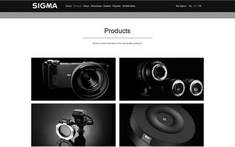 Screenshot of Products Page sigmabenelux.com - Producten | Sigma Benelux - captured Aug. 13, 2016