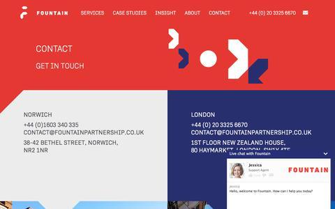 Screenshot of Contact Page fountainpartnership.co.uk - Fountain Partnership, Contact, Telephone, Address | Fountain - captured June 6, 2017